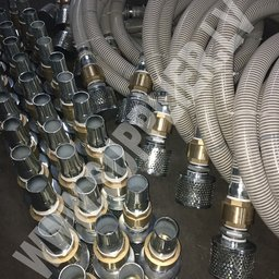 Check valve with strainer and PVC hose