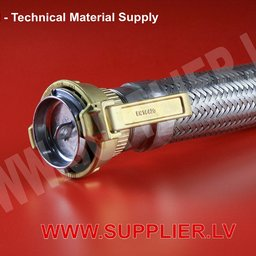 Stainless steel corrugated hoses with TW coupling